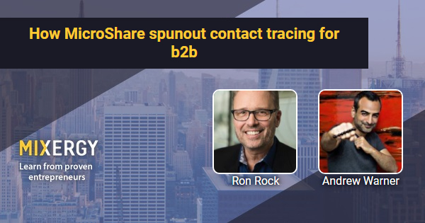 How Microshare spunout contact tracing for b2b 10
