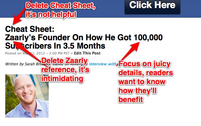 Nick's Cheat Sheet Advice